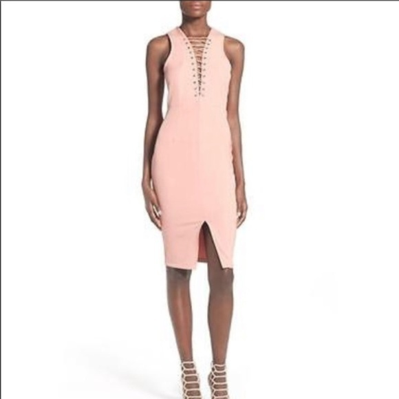 Missguided Dresses & Skirts - NEW Miss Guided Salmon Pink Front Slip Dress